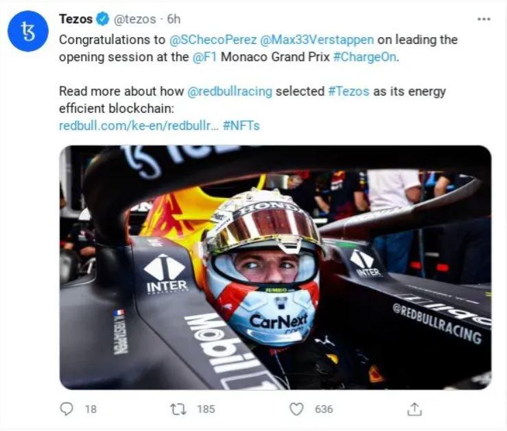 F1 criptomonedas