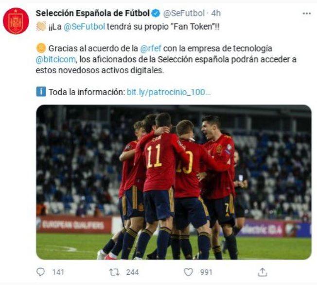 seleccion española futbol criptomonedas
