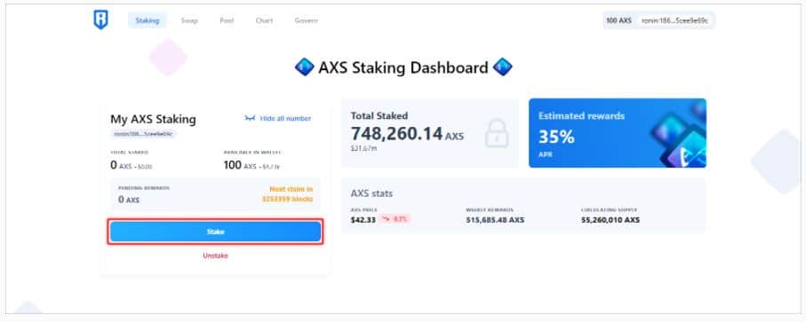 AXS staking
